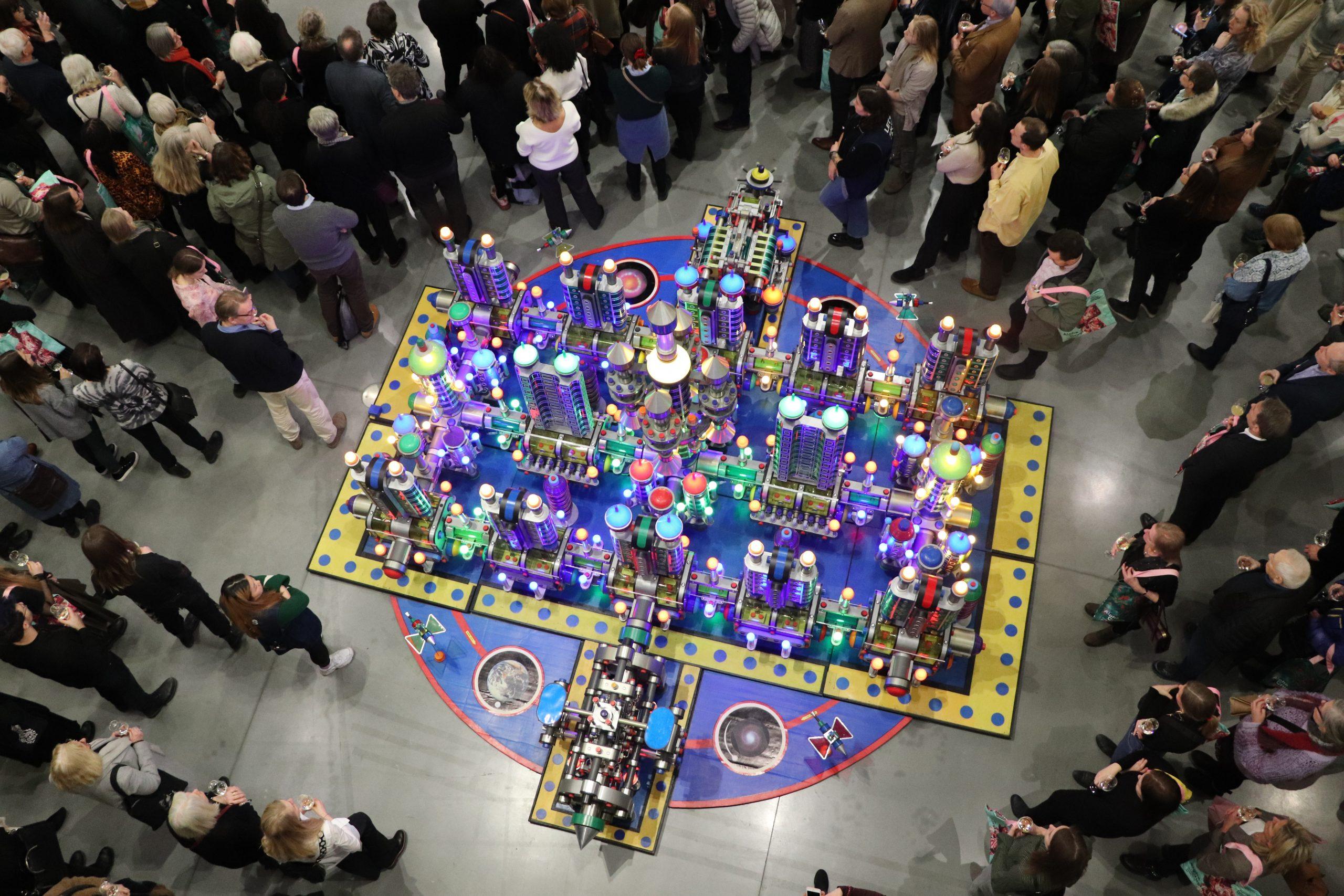 Tilder – Exposition de Rigobert Nimi « Galaxie, ville du futur »